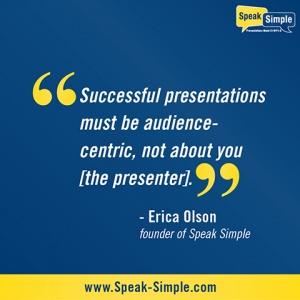 Successful presentations quote
